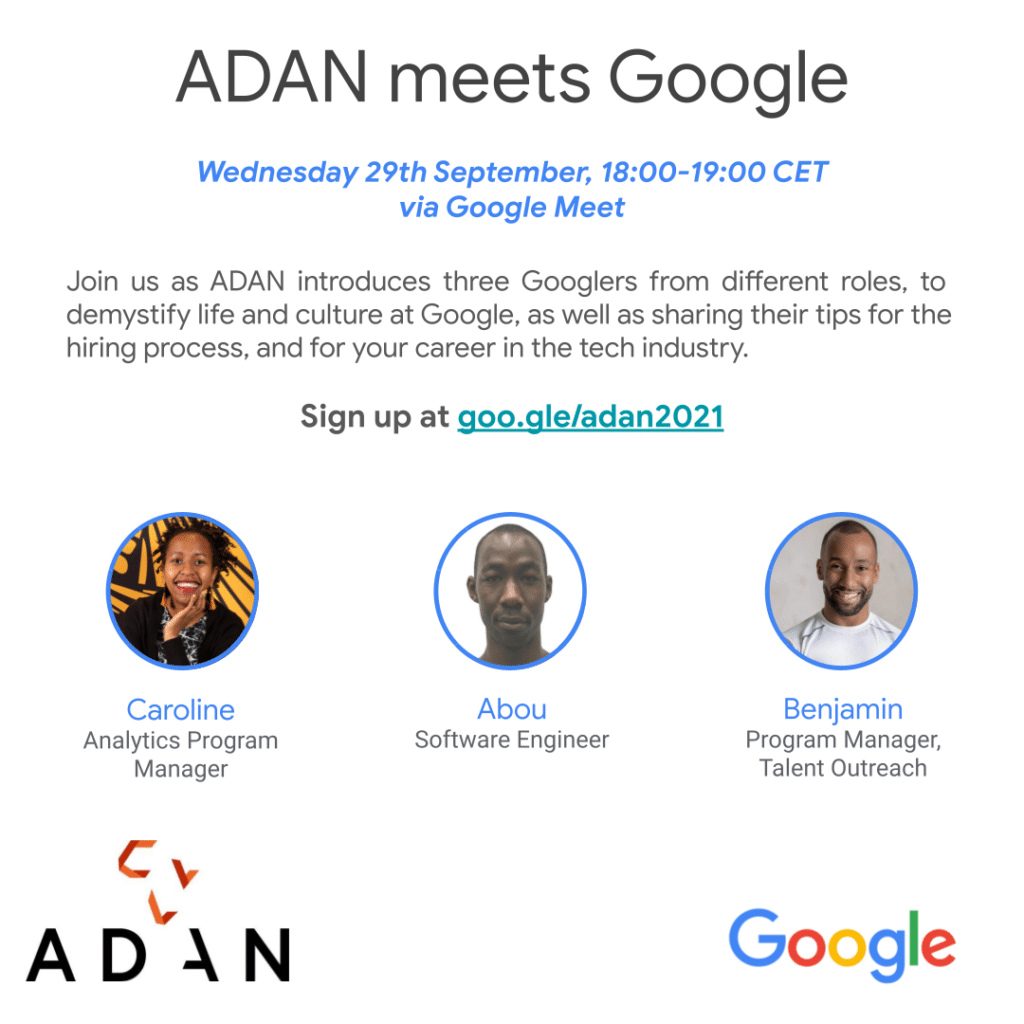 ADAN meets Google